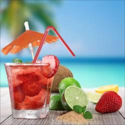 Stickers muraux déco : cocktail de fruit