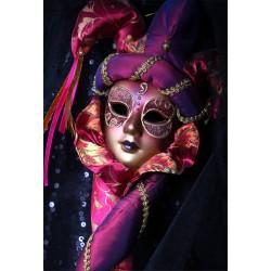 Stickers muraux déco : masque carnaval Venise
