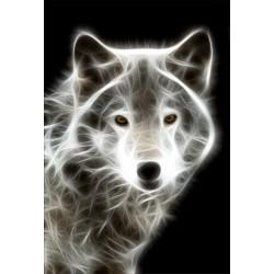 Stickers muraux déco : loup