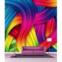 Papier peint géant déco multicouleurs 250x250cm