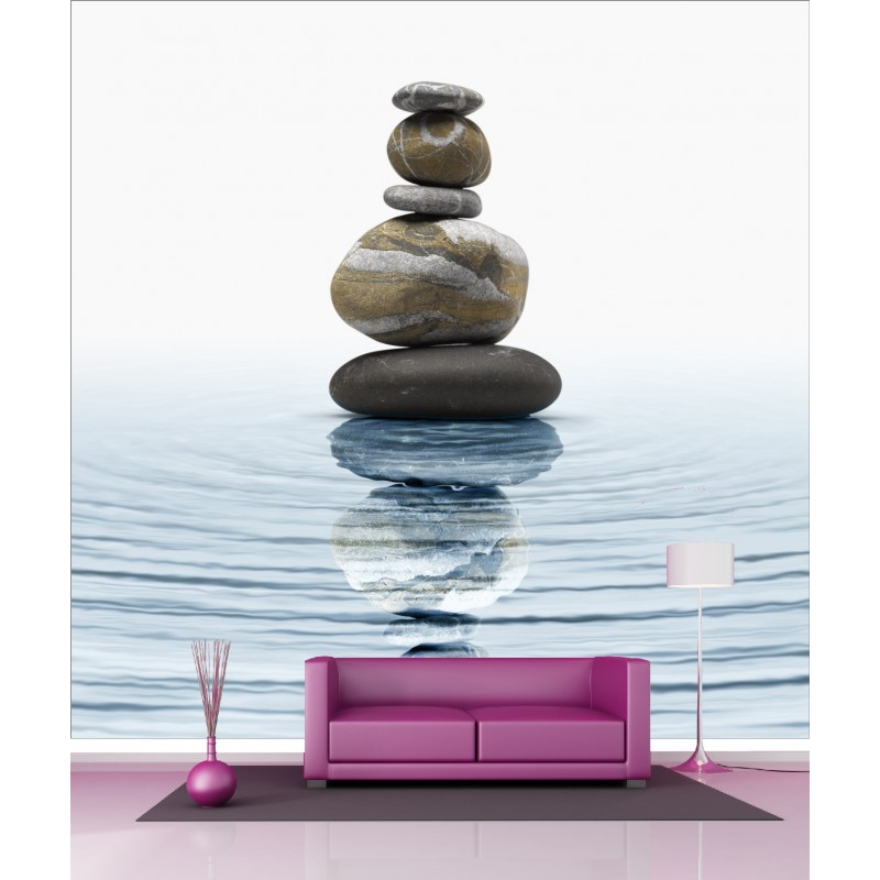 papier peint g ant d co galet zen 250x250cm art d co. Black Bedroom Furniture Sets. Home Design Ideas