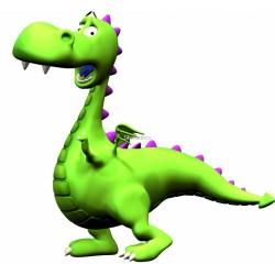 Sticker enfant Dinosaure enfant vert