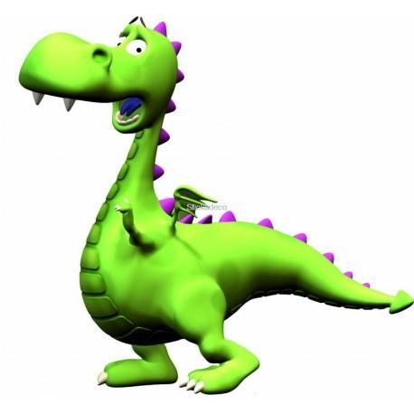 Sticker Dinosaure vert
