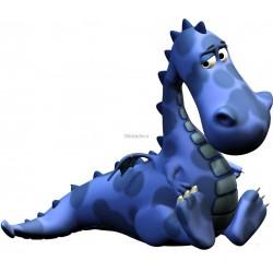 Sticker enfant Dinosaure bleu