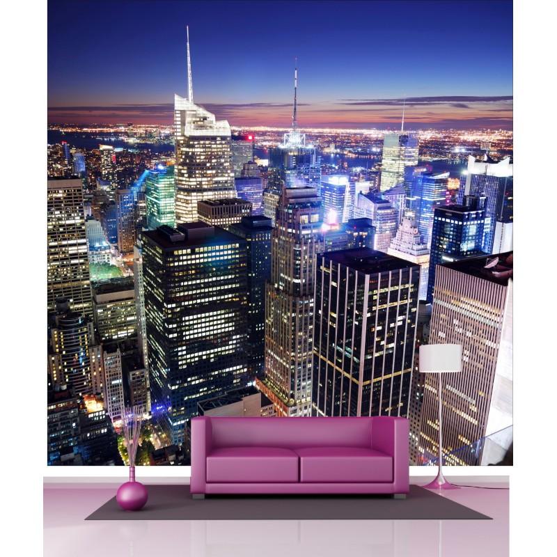 papier peint g ant d co new york vue du ciel 250x250cm art d co stickers. Black Bedroom Furniture Sets. Home Design Ideas