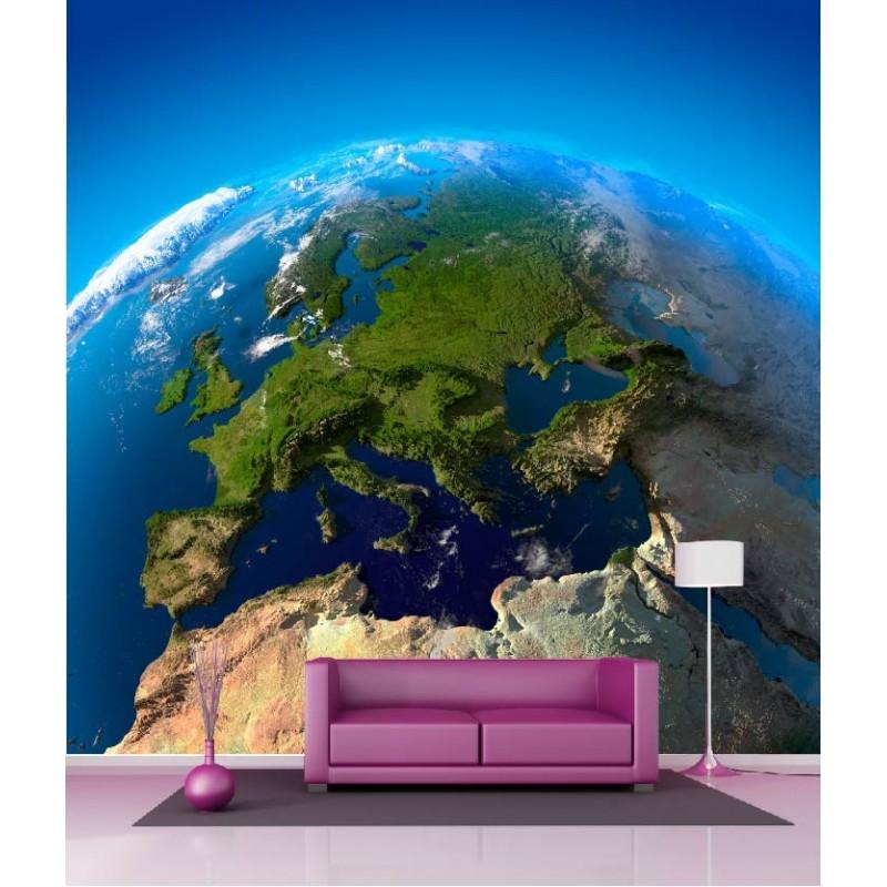 papier peint g ant d co plan te 250x250cm art d co stickers. Black Bedroom Furniture Sets. Home Design Ideas