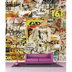 Papier peint géant déco tag graffiti 250x250cm