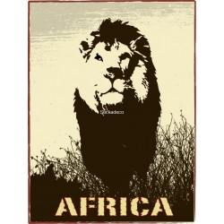Sticker Africa Lion