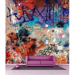 Papier peint géant déco tag graffitti 250x250cm