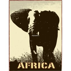 Sticker Africa Elephant