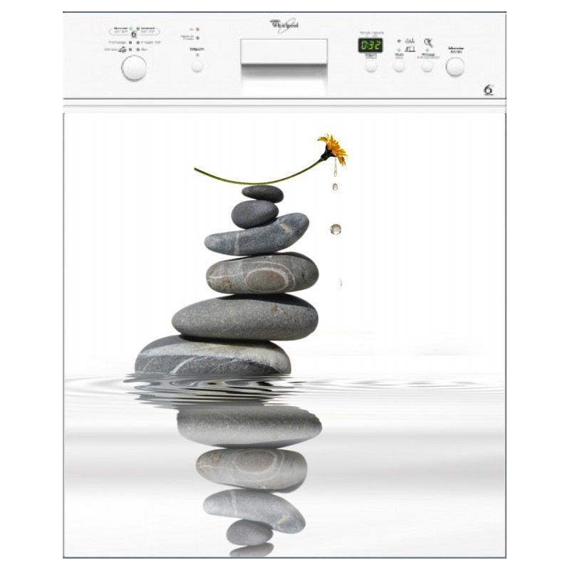 sticker lave vaisselle fleur galet magnet lave vaisselle. Black Bedroom Furniture Sets. Home Design Ideas