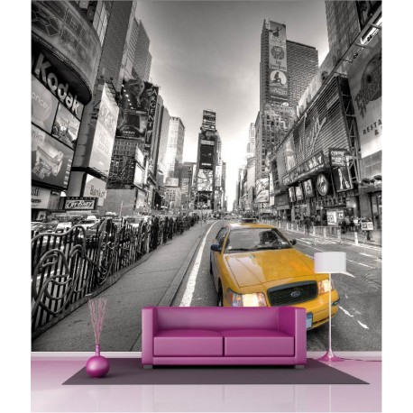 Papier peint g ant d co taxi new york 250x250cm art d co for Deco taxi new york