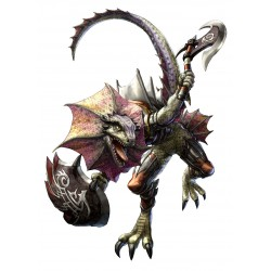 Sticker soulcalibur dinosaure