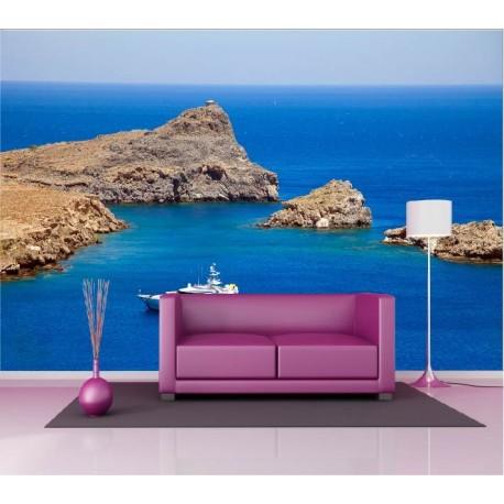 papier peint g ant d co yacht 250x360cm art d co stickers. Black Bedroom Furniture Sets. Home Design Ideas