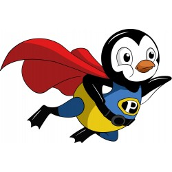Sticker enfant Super Pinguoin