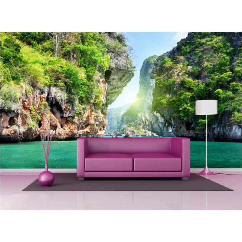 papier peint g ant d co les calanques 250x360cm art d co. Black Bedroom Furniture Sets. Home Design Ideas