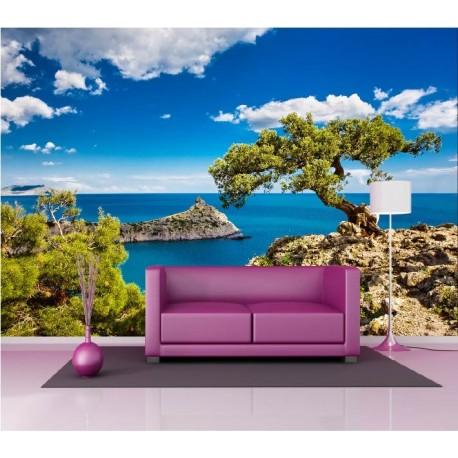 papier peint g ant d co vue sur la mer 250x360cm art d co stickers. Black Bedroom Furniture Sets. Home Design Ideas
