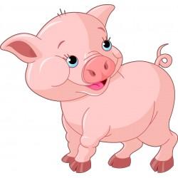 Stickers muraux enfant Cochon