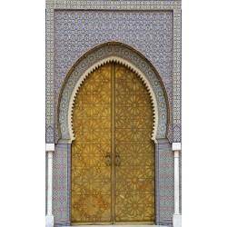 Sticker Trompe l'oeil Porte Marocaine ref 011