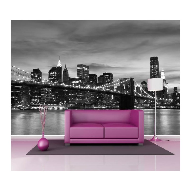papier peint g ant d co pont de brooklyn 250x360cm art d co stickers. Black Bedroom Furniture Sets. Home Design Ideas