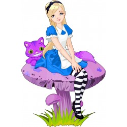 Stickers muraux enfant Alice