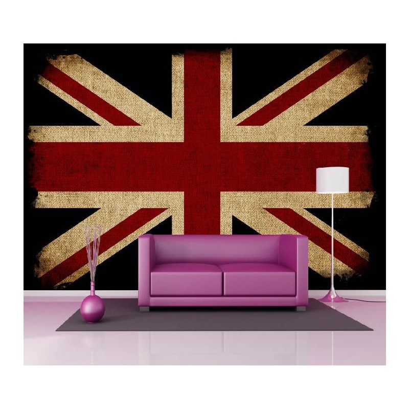 papier peint g ant d co drapeau anglais 250x360cm art. Black Bedroom Furniture Sets. Home Design Ideas