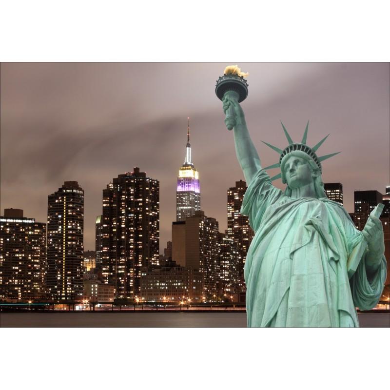 papier peint g ant d co statue de la libert 250x360cm art d co stickers. Black Bedroom Furniture Sets. Home Design Ideas