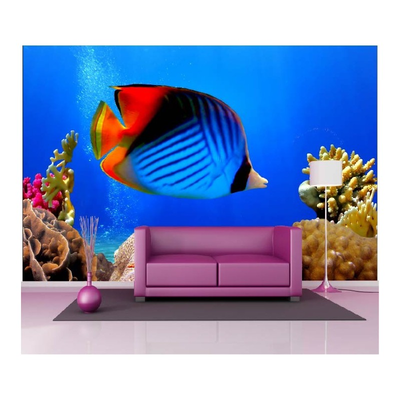 Papier Peint G Ant D Co Poisson Multicolore Coquillage 250x360cm Art D Co Stickers