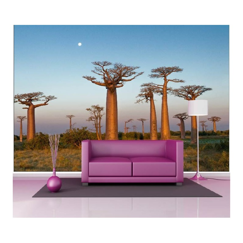 papier peint g ant d co arbres 250x360cm art d co stickers. Black Bedroom Furniture Sets. Home Design Ideas