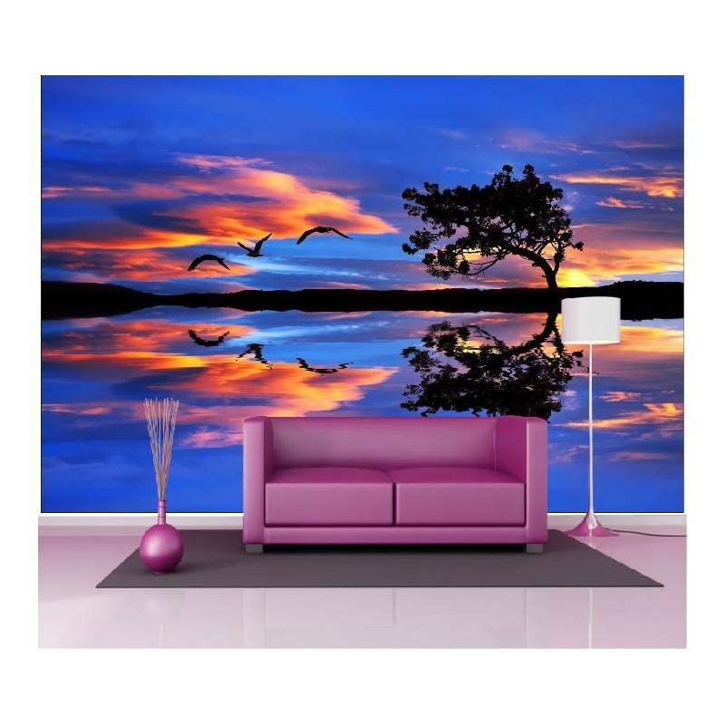 papier peint g ant d co couch de soleil mer 250x360cm art d co stickers. Black Bedroom Furniture Sets. Home Design Ideas