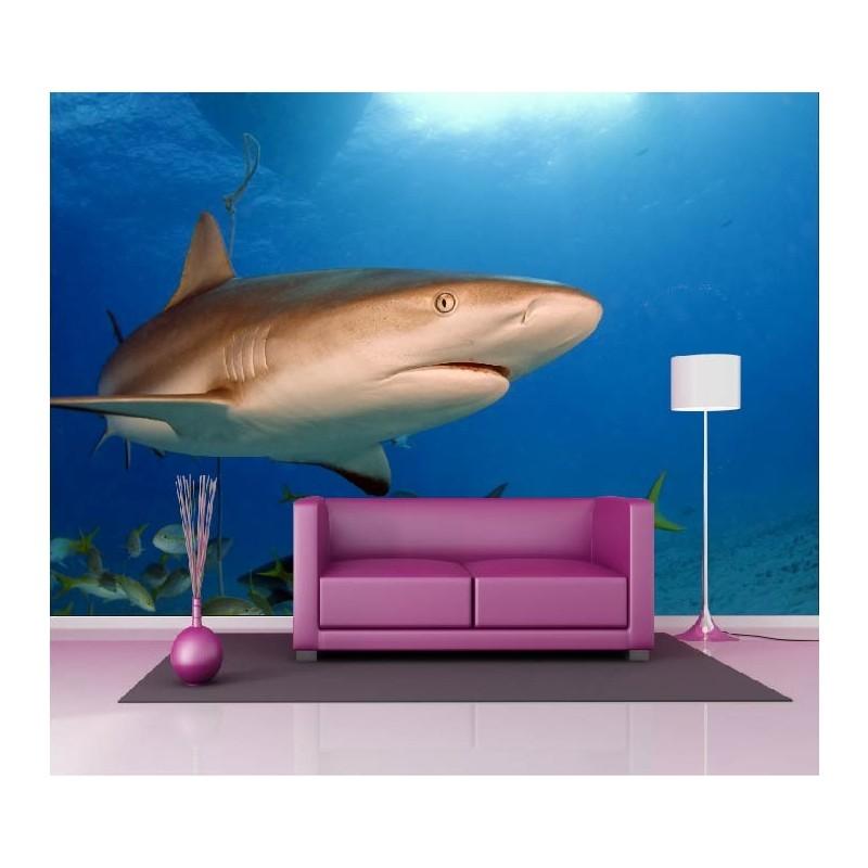 Papier peint géant déco requin 250x360cm - Art Déco Stickers