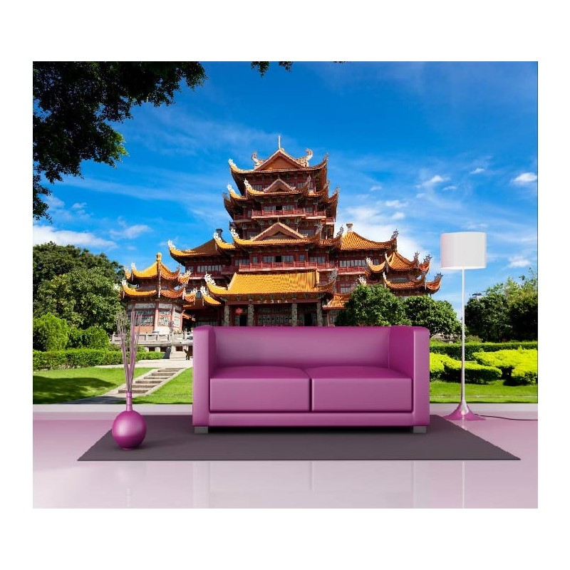 papier peint g ant d co temple chinois 250x360cm art d co stickers. Black Bedroom Furniture Sets. Home Design Ideas