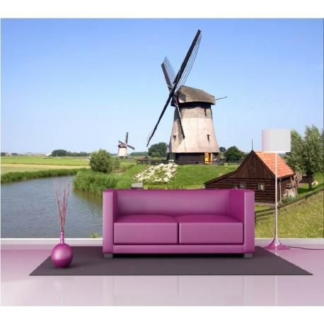 papier peint g ant d co moulin vent 250x360cm art d co. Black Bedroom Furniture Sets. Home Design Ideas