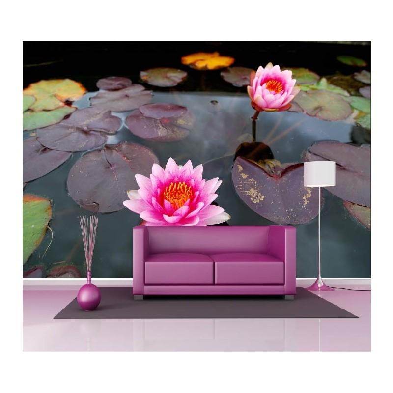 papier peint g ant d co n nuphar 250x360cm art d co stickers. Black Bedroom Furniture Sets. Home Design Ideas