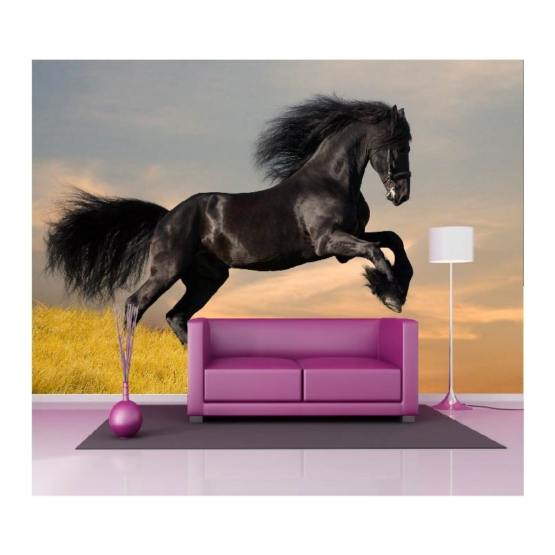 papier peint g ant d co cheval 250x360cm art d co stickers. Black Bedroom Furniture Sets. Home Design Ideas