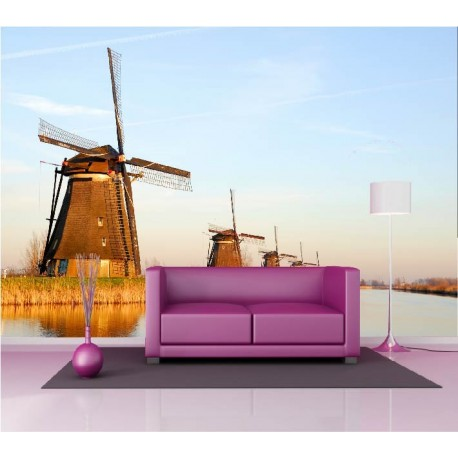 papier peint g ant d co moulin vent 250x360cm art d co stickers. Black Bedroom Furniture Sets. Home Design Ideas