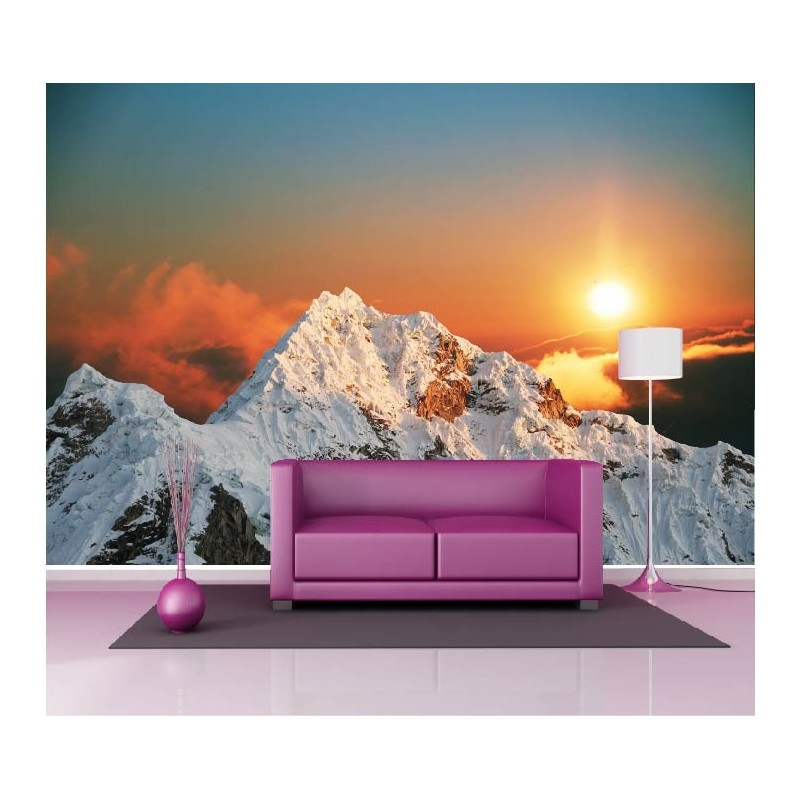 papier peint g ant d co montagne couch de soleil 250x360cm art d co stickers. Black Bedroom Furniture Sets. Home Design Ideas
