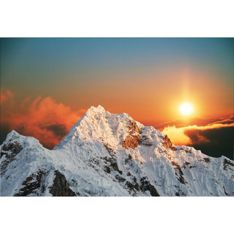 Papier peint g ant d co montagne couch de soleil 250x360cm art d co stickers - Photo coucher de soleil montagne ...
