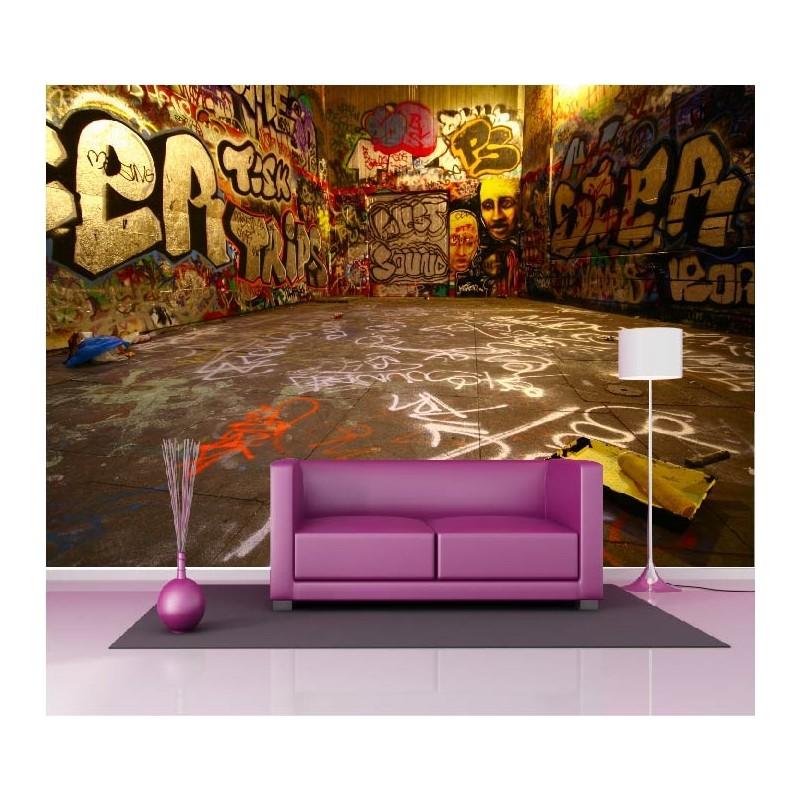 papier peint g ant d co tag graffiti 250x360cm art d co. Black Bedroom Furniture Sets. Home Design Ideas