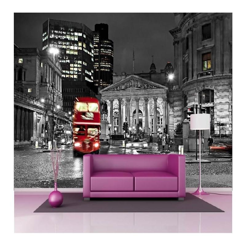 papier peint g ant d co londres bus 250x360cm art d co. Black Bedroom Furniture Sets. Home Design Ideas