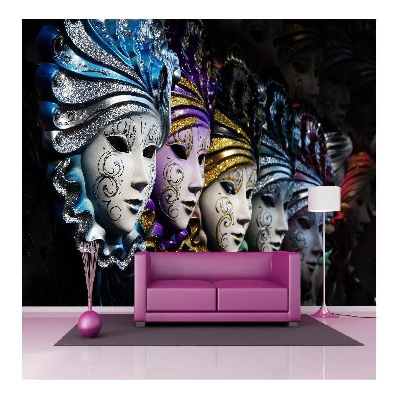 Papier peint géant déco masque carnaval Venise 250x360cm b80dd1de49f0
