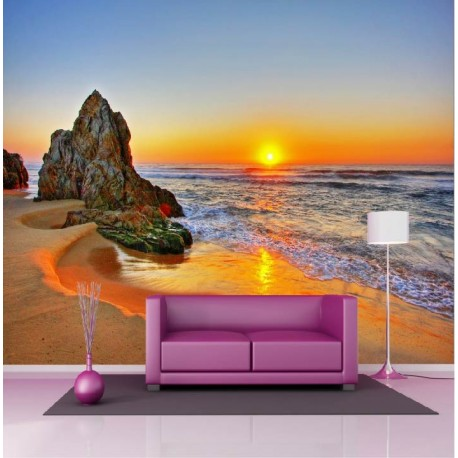 papier peint g ant d co couch de soleil plage 250x360cm art d co stickers. Black Bedroom Furniture Sets. Home Design Ideas