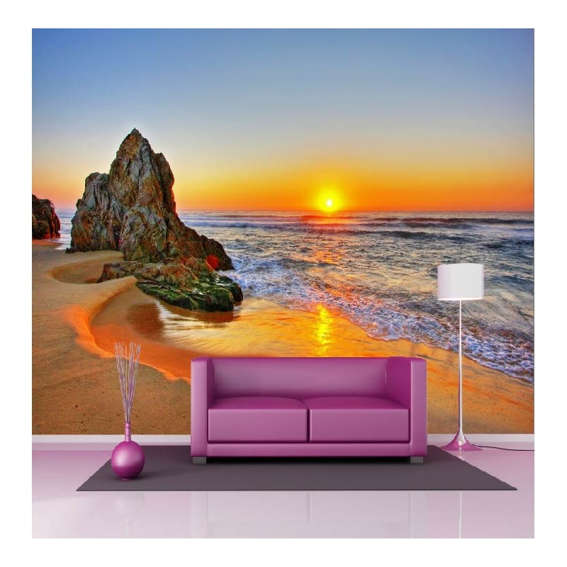 papier peint g ant d co couch de soleil plage 250x360cm art d co stickers. Black Bedroom Furniture Sets. Home Design Ideas