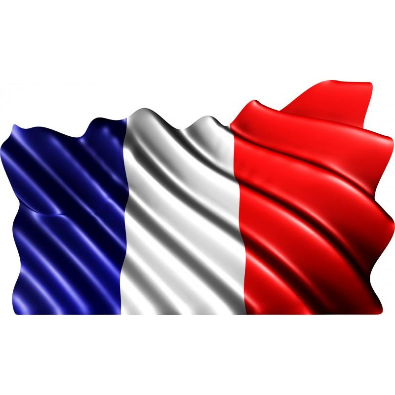 Sticker drapeau fran ais art d co stickers for Autocollant mural francais