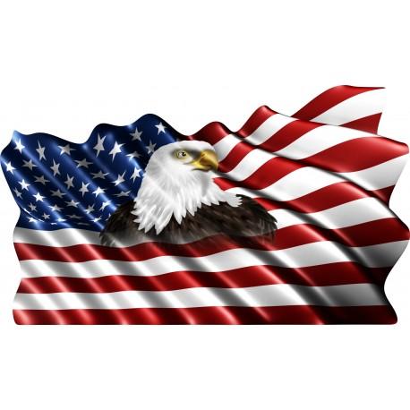Sticker drapeau Américain
