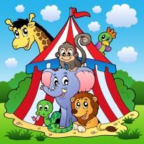 Stickers enfant géant Cirque