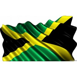 Sticker drapeau Jamaicain