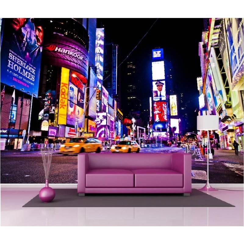 papier peint g ant d co taxi new york 250x360cm art d co stickers. Black Bedroom Furniture Sets. Home Design Ideas