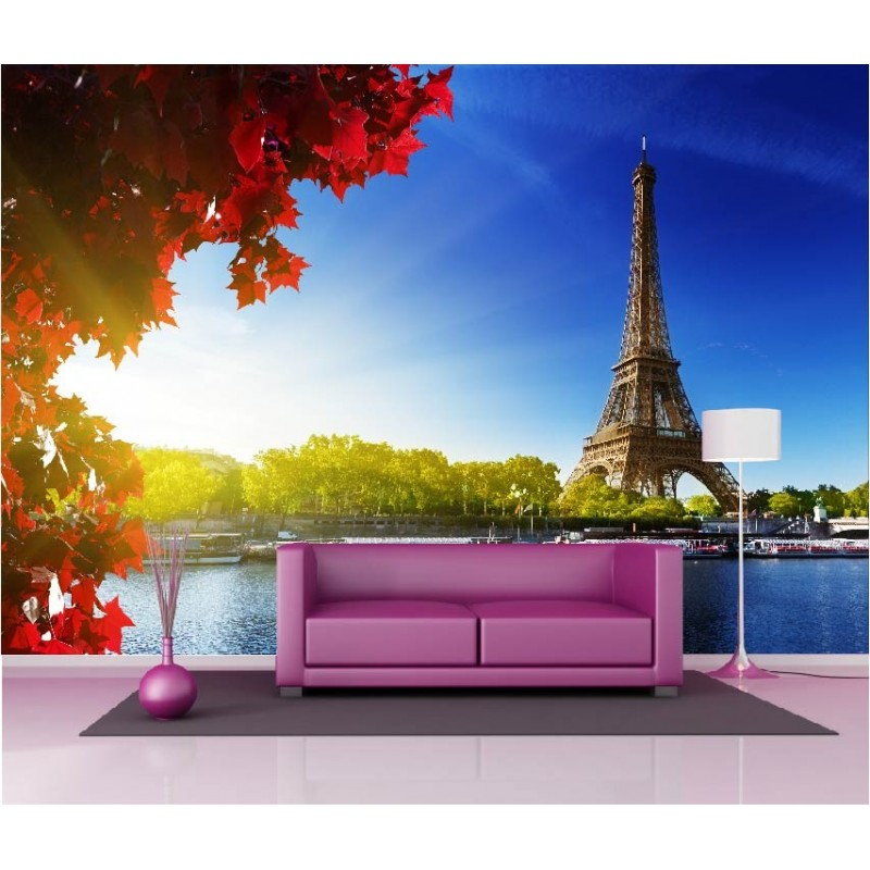 papier peint g ant d co tour eiffel 250x360cm art d co stickers. Black Bedroom Furniture Sets. Home Design Ideas