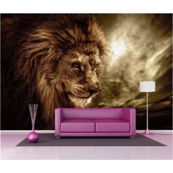 Papier peint géant déco lion 250x360cm